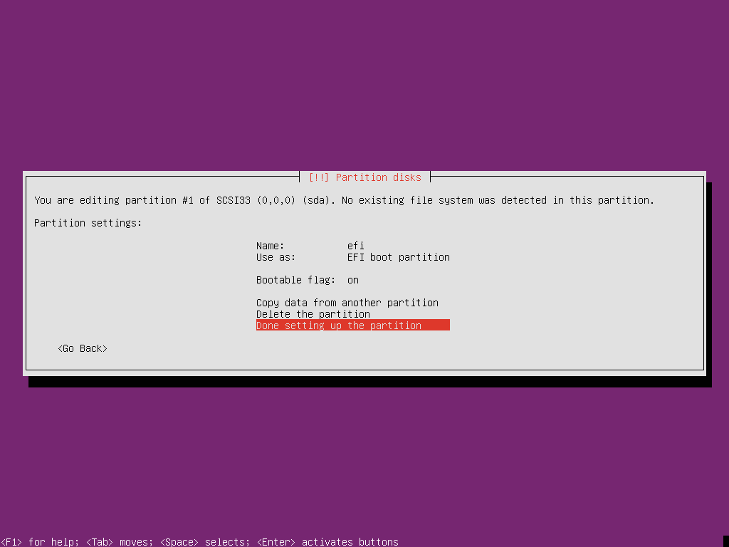 Ubuntu 18.10 Server UEFI-2015-01-22-20-53-50