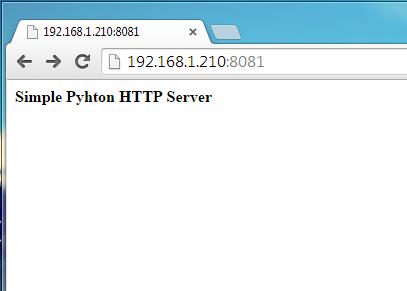 SimpleHTTPServer default webpage