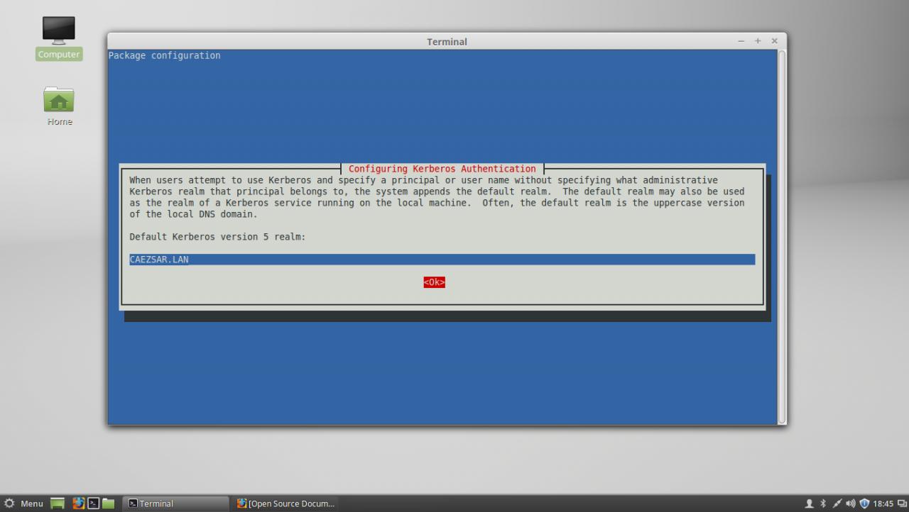 Configure Kerberos realm