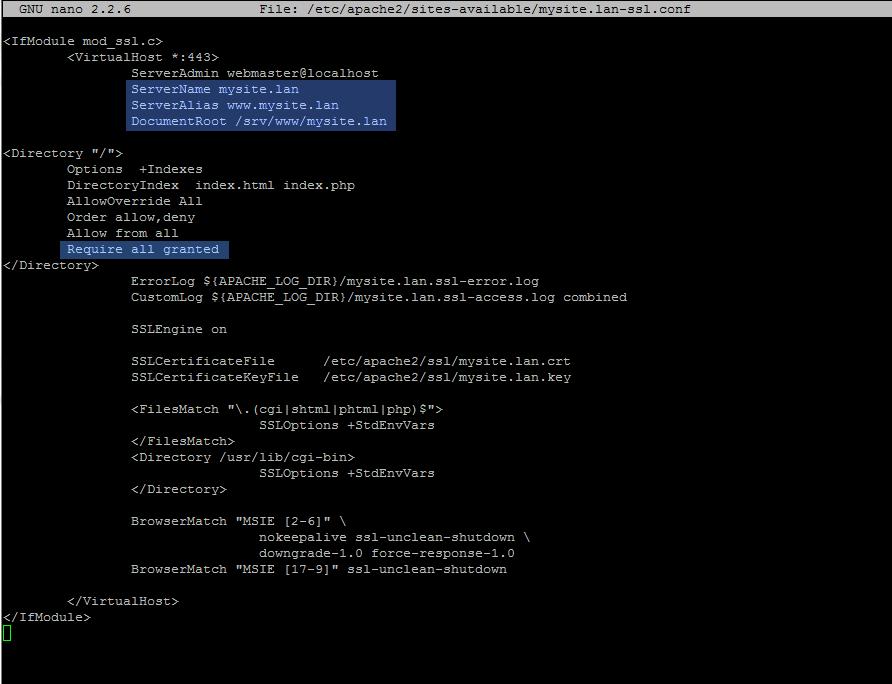 alternate ssl conf file