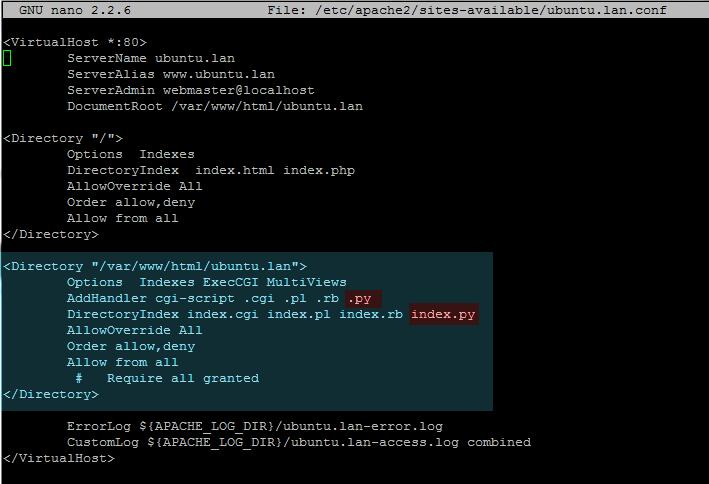 enable cgi scripts