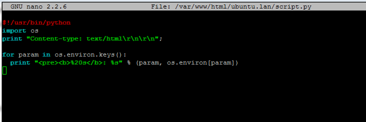 python cgi script