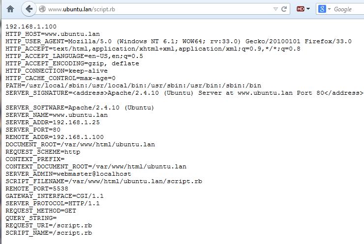 run cgi ruby script