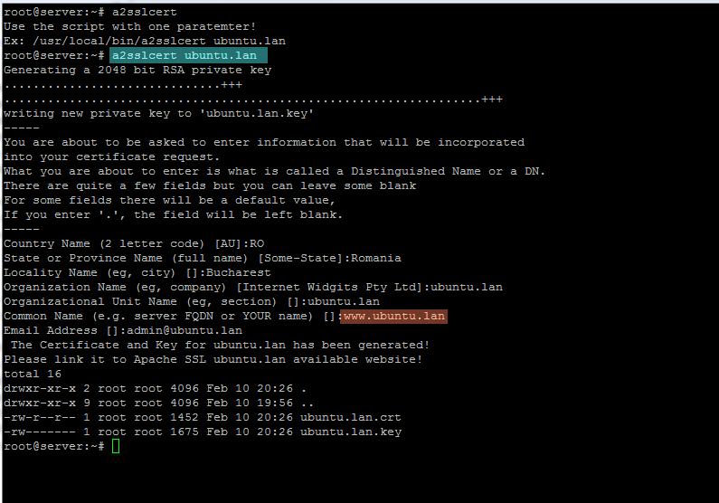 generate ssl certificate