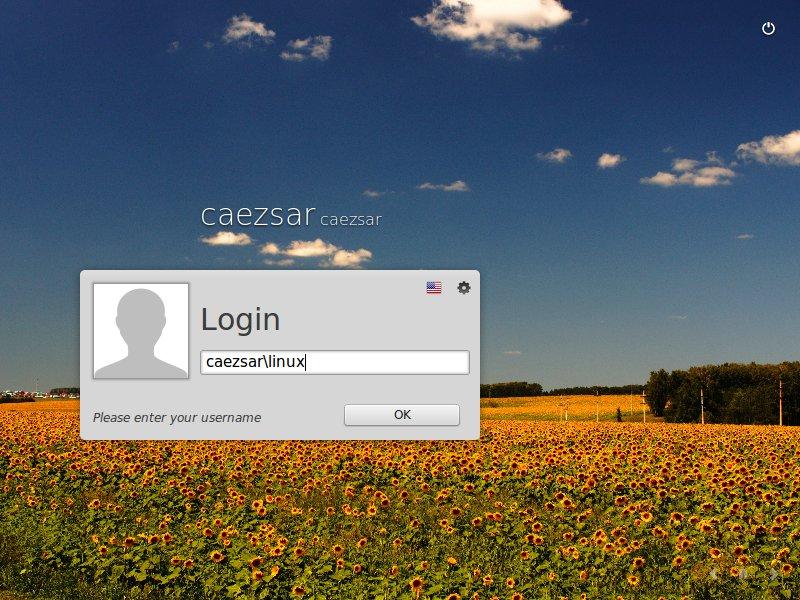 Ad user GUI login