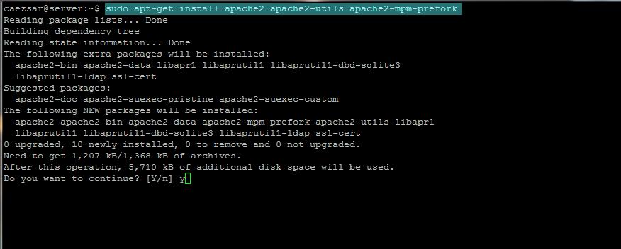 Install LAMP (Apache-Php-MySQL) in Ubuntu 19.04