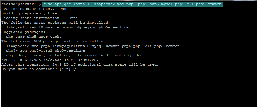 install php5
