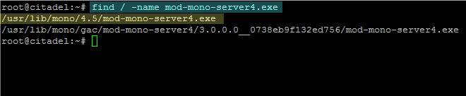 locate mod-mono-server4 system path