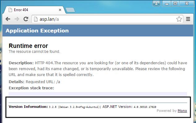 get ASP.NET version