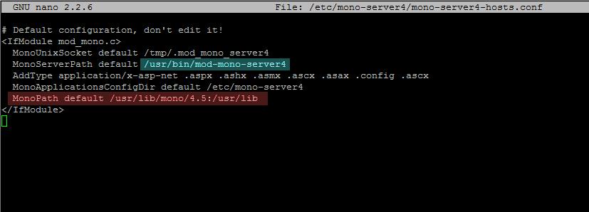 mono-server4 configuration file