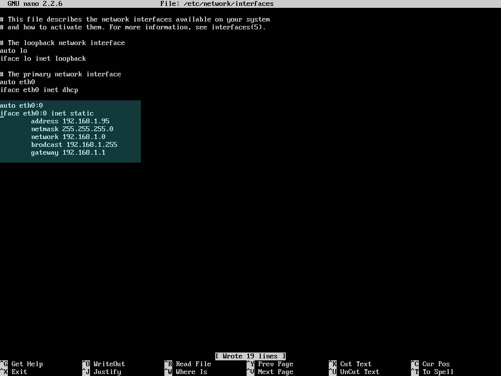 virtual network interface eth0