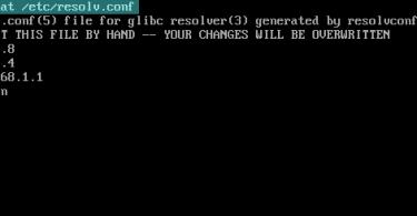 resolv.conf output